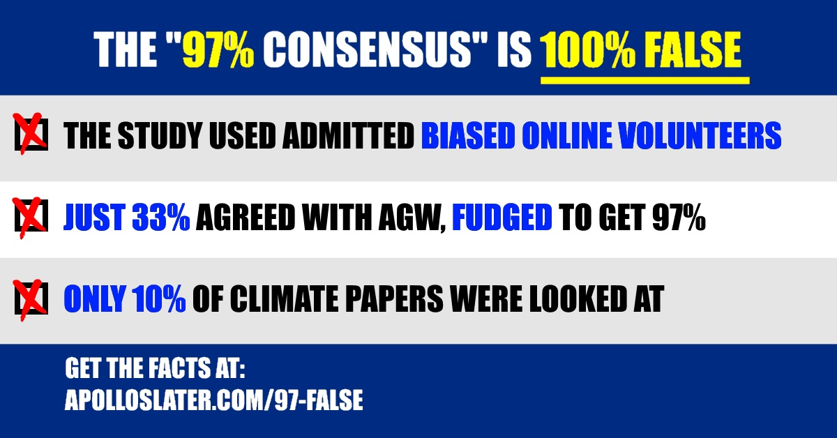 97% consensus is 100% false