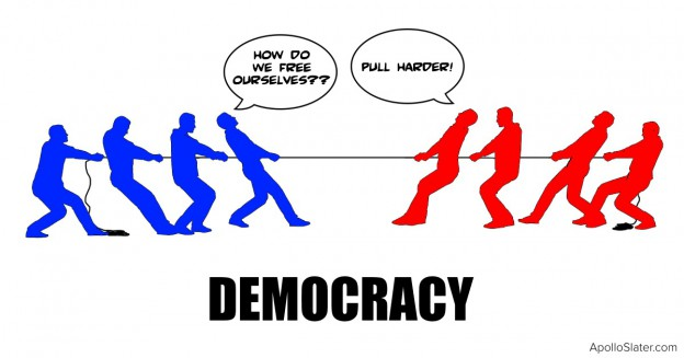 Democracy is a tug of war