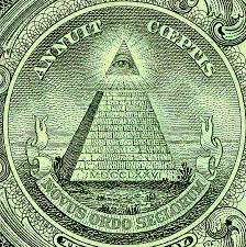 Masonic pyramid on dollar bill