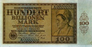One hundred billion mark note, Weimar Republic